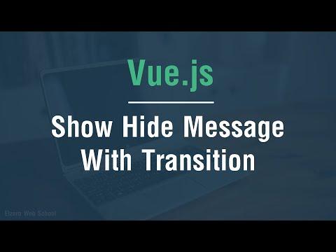 [ Arabic ] Vue.js Tutorials - Show Hide Message With Transition thumbnail