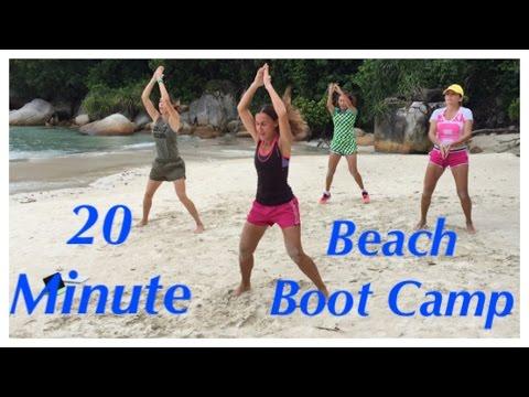 20-minute beach boot camp