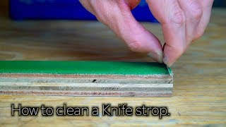 How To Clean A Knife Sharpening Strop | How To clean a Buffing Wheel