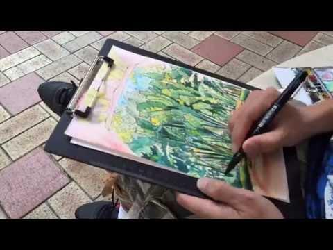 Sketching in a Residential Garden - Gary Yeung