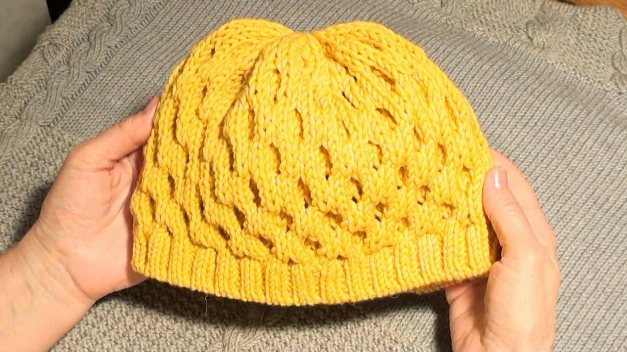 Модные женские вязаные шапки. - YouTube