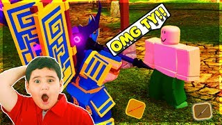 I GAVE THE *RAREST* ITEMS TO RANDOM STREAMERS! (ROBLOX DUNGEON QUEST)