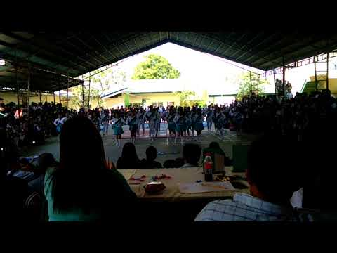 Cheer dance competition in san Isidro high school champion.