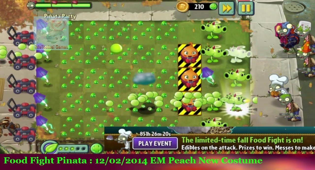 Plants vs Zombies 2  Food Fight Pinata 02 12 14 EM Peach