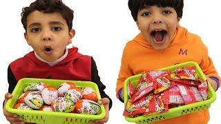 الياس حول بيضة الكندر وحلوى السكيتلز