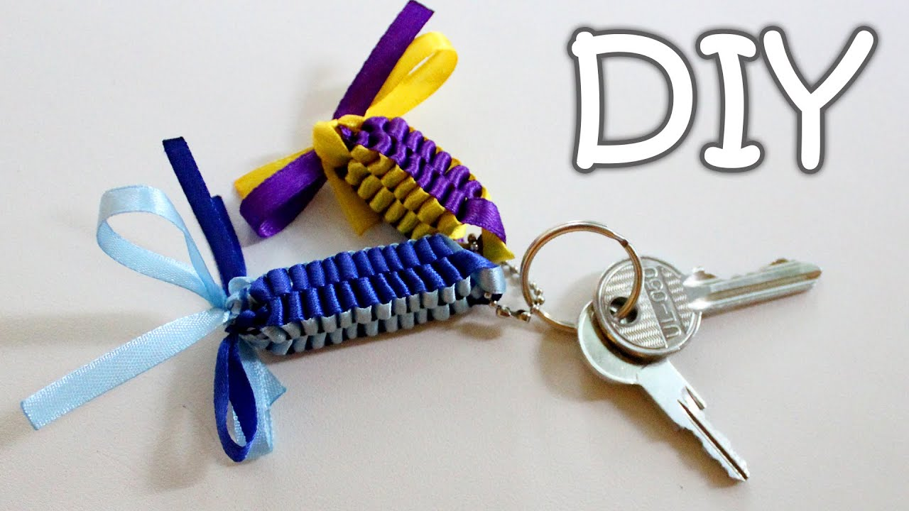Diy Ribbon Keychains How To Make A Ribbon Pendants Youtube