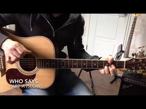 Who says - John Mayer - Guitar Lesson - How to play