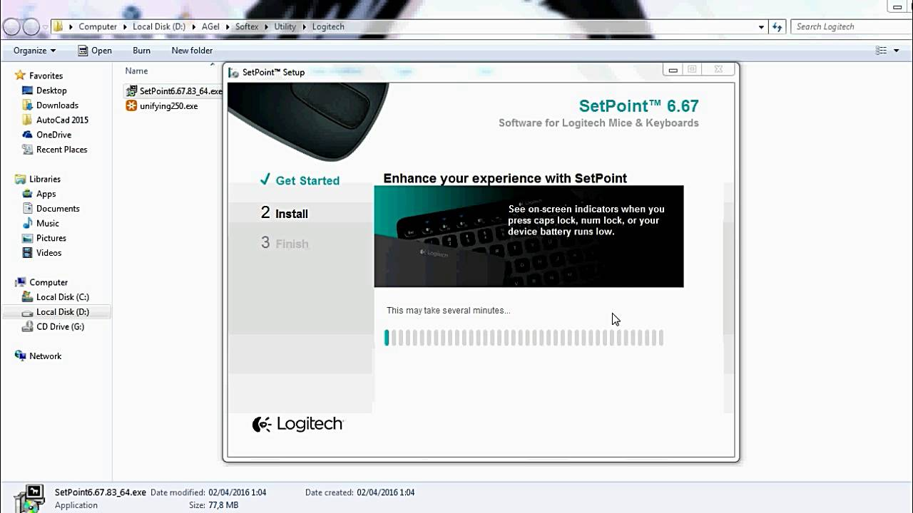 logitech setpoint pour windows 7