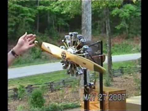 9 cylinder model radial engine