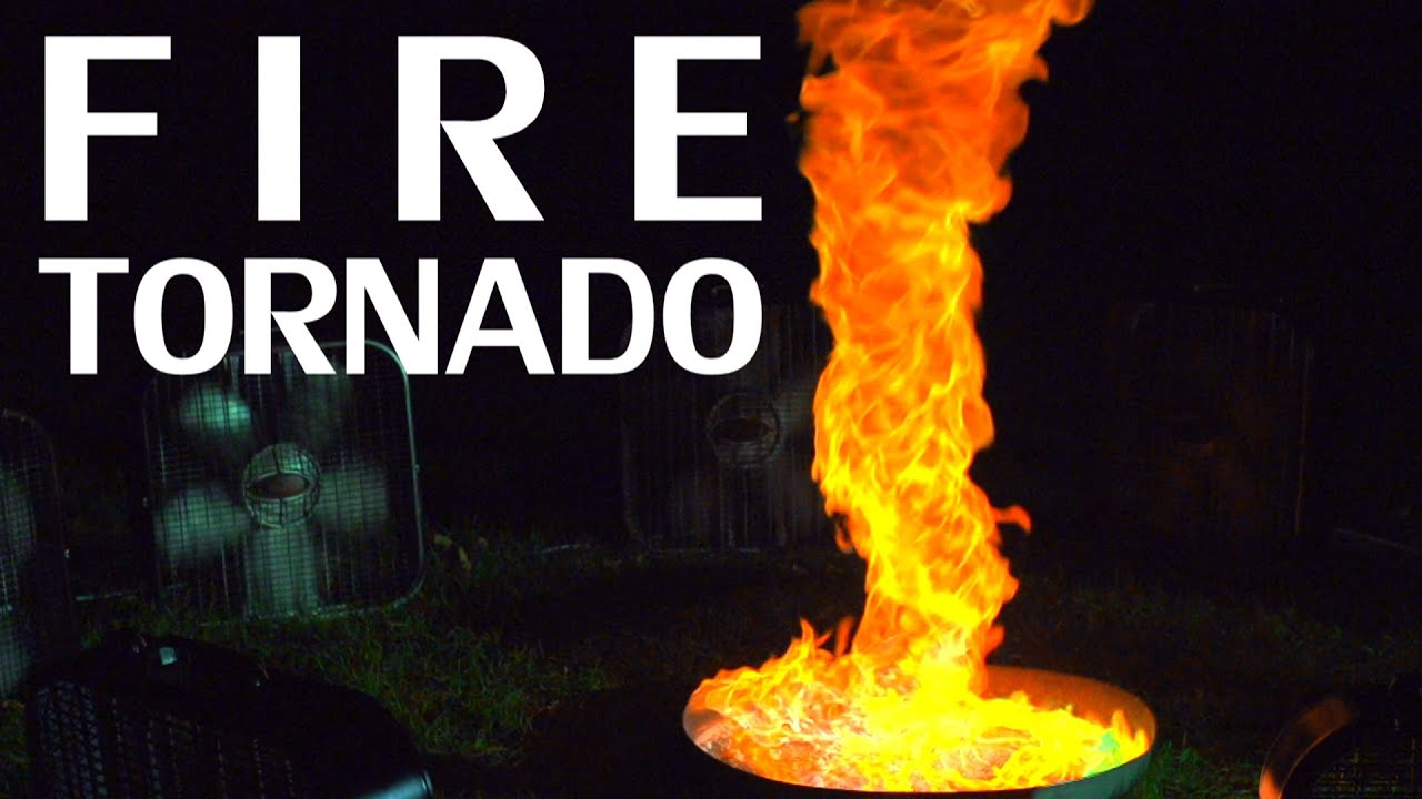 Building A Fire Tornado Flame Colorant Slow Motion - This slow motion fire tornado is the coolest thing youll see all day