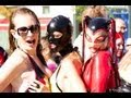 Montreal Fetish Weekend 2013 . sexy latex models on the streets