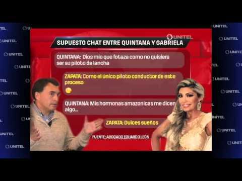 VIDEO: CONOZCA PARTE DE LOS SUPUESTOS CHATS ENTRE GABRIELA ZAPATA Y EL MINISTRO QUINTANA