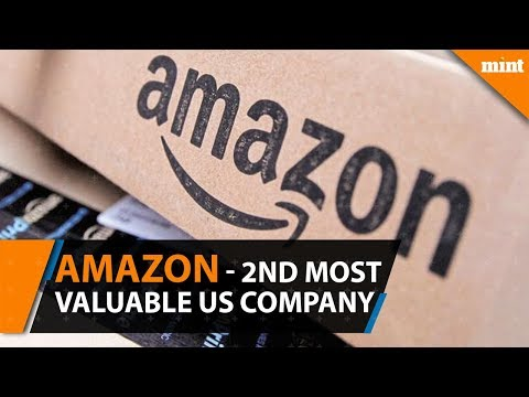 Amazon tops Alphabet to become second most valuable US-listed company