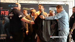 AMIR KHAN HAS TO WEIGH IN NAKED TO MAKE WELTERWEIGHT LIMIT AHEAD OF BOUT WITH SAMUEL VARGAS