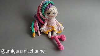 Кукла крючком - Единорог