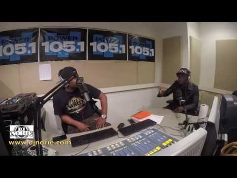 FUSE ODG live on POWER 105 1fm with DJ NORIE