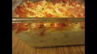 """Видео-рецепт """"Капустный омлет с помидорами и сыром"""""""