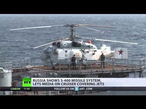 Russia shows its flagship cruiser, S400 missile system in Syria to foreign media