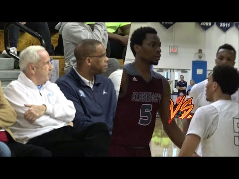 Hudson Catholic vs. St Benedicts - Jelly JQ vs Precious Achiuwa in Front of Roy Williams!! Sold Out!