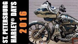 Уникальные мотоциклы ручной сборки Харлей Дэвидсон /Кастом байк шоу /Фестиваль байкеров Видео
