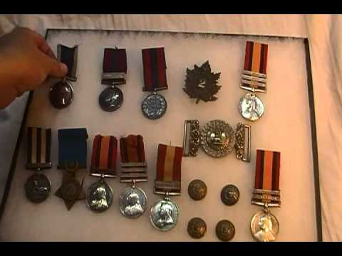 British military medal collection Egypt Boer War Fenian Raid Victorian Army Navy
