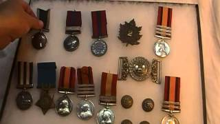 British military medal collection Egypt Boer War Fenian Raid Victorian Army Navy