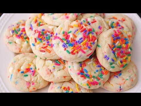 Easy Funfetti Cake Mix Cookies - Birthday Cake Cookies