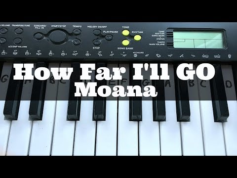 How Far I'll Go - Disney's 'Moana' | Easy Keyboard Tutorial With Notes (Right Hand)