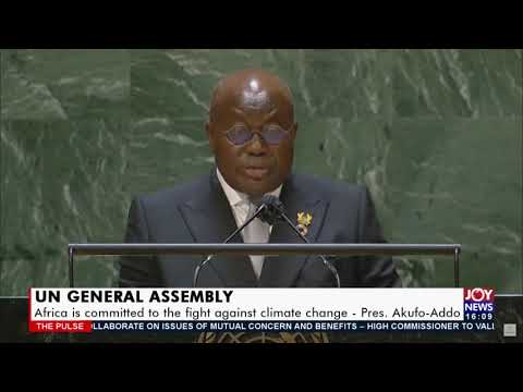 UN General Assembly: President Akufo-Addo addresses annual gathering of world leaders-(22-9-21)