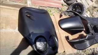 Yamaha Ovetto/Neos (cateva poze de la vopsit)painting scooter Negru mat! black mat!