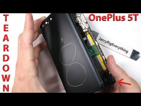 timeless design 43660 4d1d9 OnePlus 5T Teardown! - Hidden water resistance? - YouTube