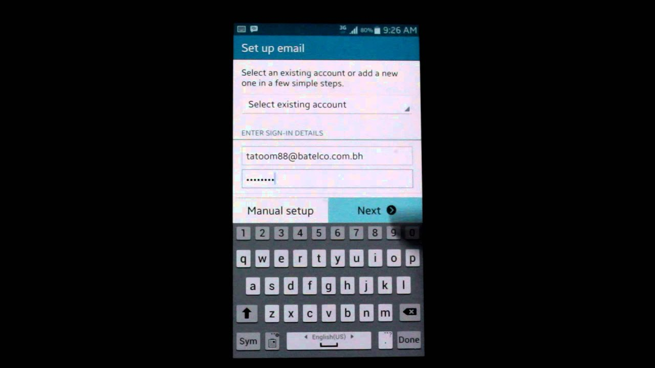 Setup Batelco Email Account on Android - YouTube