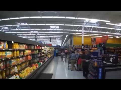 Shopping Inside WalMart On Colonial In Fort Myers, Florida