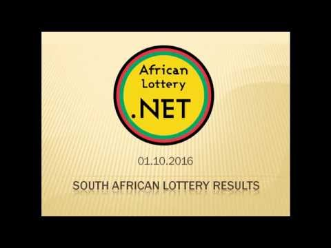 South Africa Lotto results - 01.10.2016