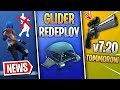 Fortnite News | v7.20 Update Tomorrow, Emote Lawsuit, Glider Redeploy Return, Marshmello x Fortnite!