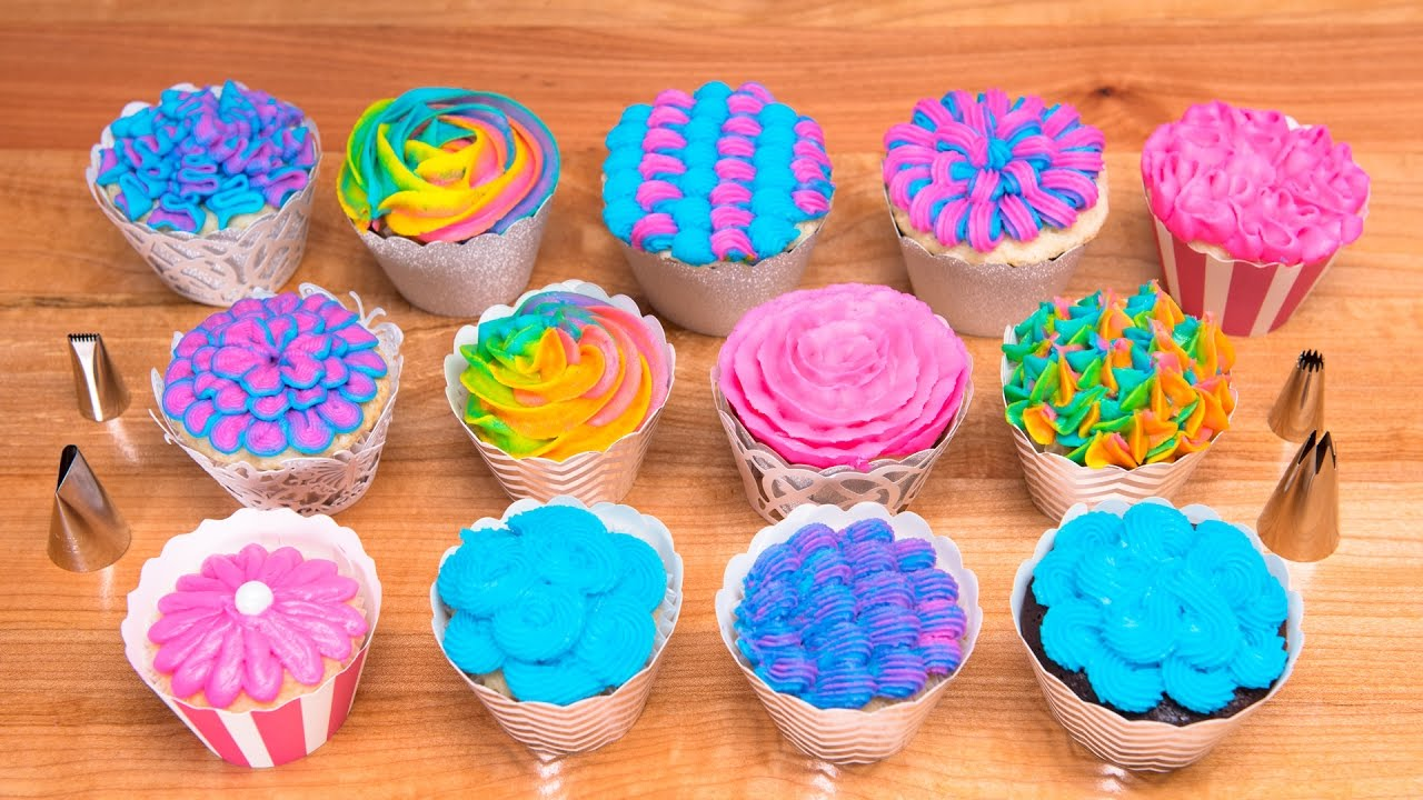 Cake Decorating Latest Techniques : 13 Buttercream Piping Techniques / Cake Decorating Tutorial from Jenn Johns - YouTube