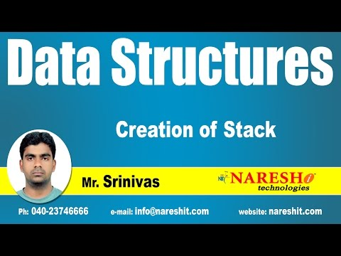 Creation of Stack in DS | Data Structures Tutorial | Mr. Srinivas