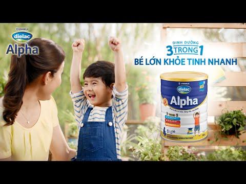 Quảng cáo sữa bột Vinamilk Dielac Alpha – Dinh dưỡng 3 trong 1