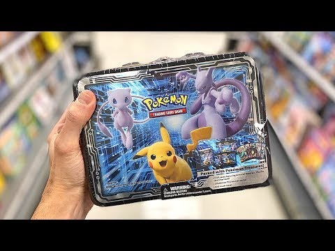*NEW POKEMON CARDS PIKACHU MEWTWO & MEW BOX!* Opening COLLECTOR CHEST With COSMIC ECLIPSE!
