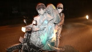 Volcanic ash blankets towns & villages in Java, Indonesia - BBC News