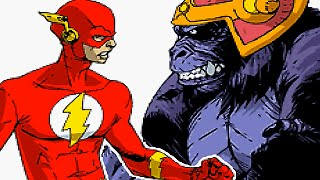Justice League Heroes - THE FLASH Gameplay (Keystone City - Grodd) [GBA - Game Boy Advance]