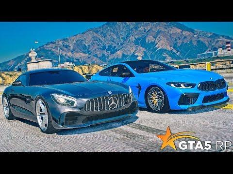 УСТРОИЛИ ГОНКУ MERCEDES BRABUS 700 против BMW M8•GTA 5 RP Strawberry
