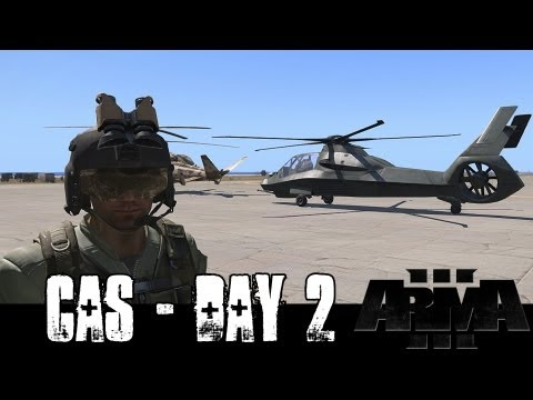 Close Air Support - Day 2 - ArmA 3 Attack Helicopter Gameplay