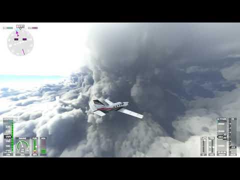 Microsoft Flight Simulator (2020) - Flying into Hurricane Laura near Lake Charles