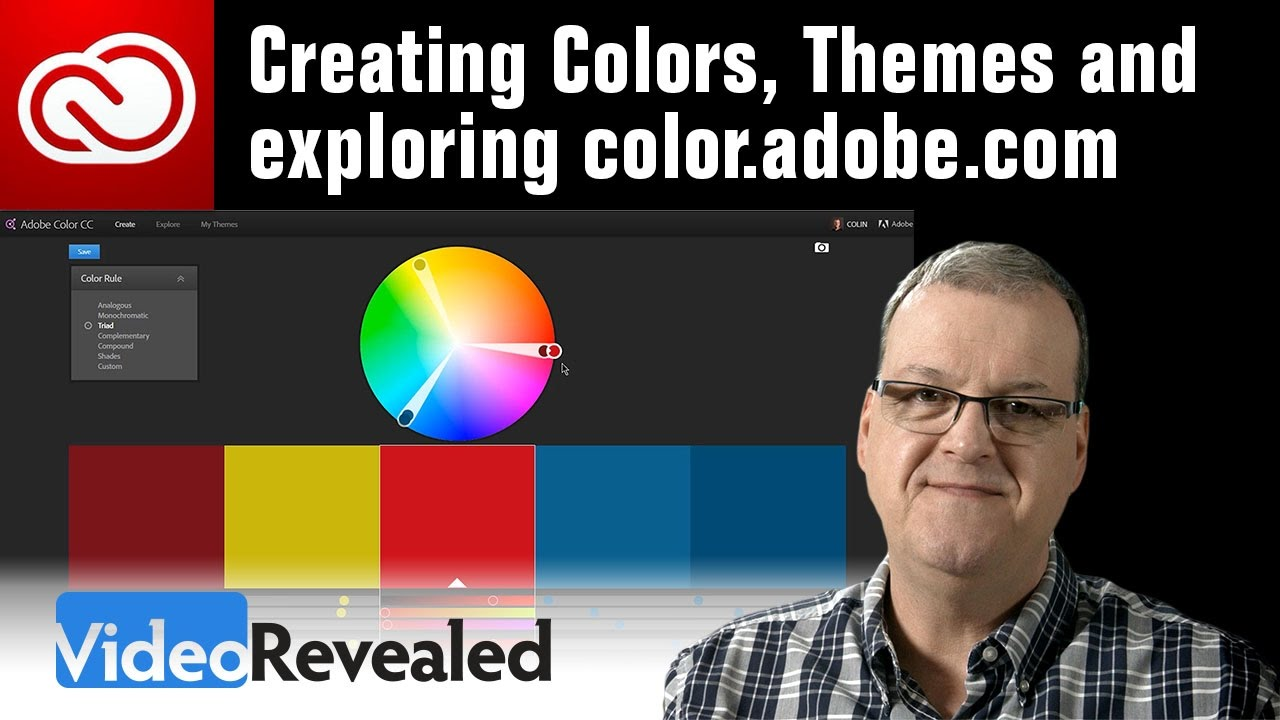 Creating colors, Themes and exploring color.adobe.com