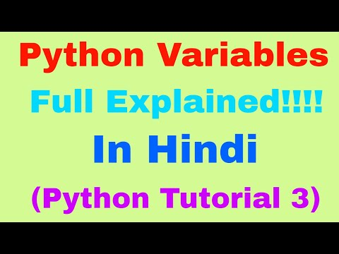 Python Variables: Declare, Concatenate, Global, Local & Delete a variable ( Python Tutorial 3) thumbnail