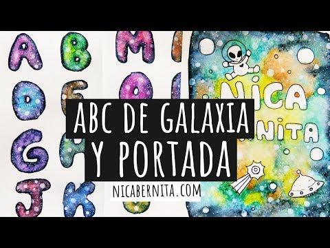 Letras Para Títulos Con Dibujo De Galaxia Galaxia Con Rotuladores