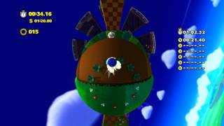 Sonic Lost World (Wii U): Windy Hill - Zone 1 - Time Attack (1:02.01)