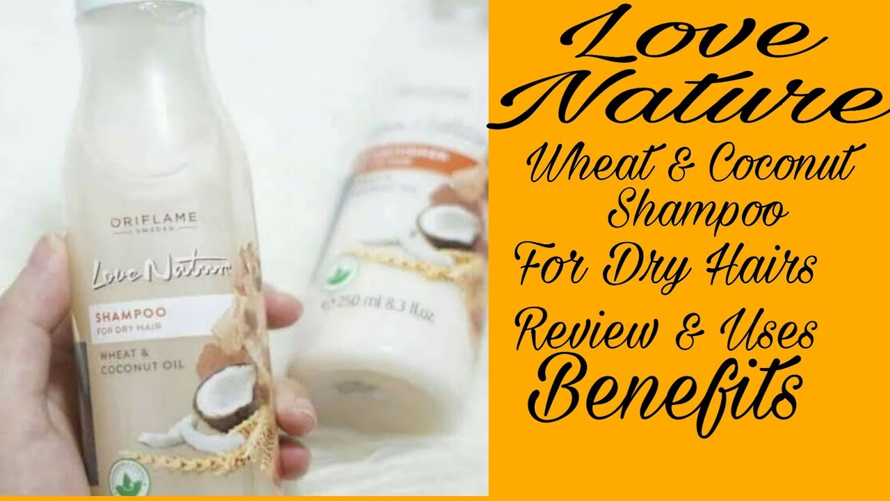 Love Nature Shampoo For Dry Hairs Wheat & Coconut Oil ...