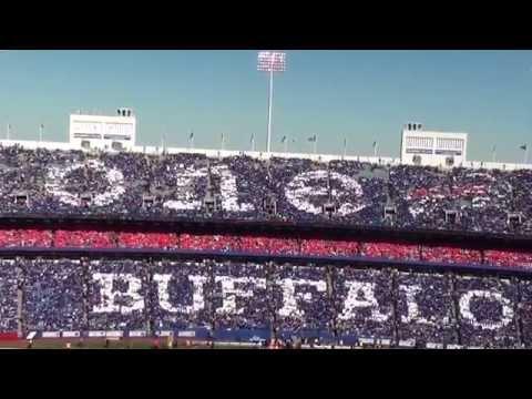 Buffalo Bills Stadium Card Stunt - ONE BUFFALO - 10-12-14
